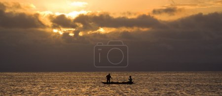 Mediterranean waves at sunset