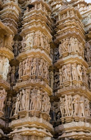 Stone carved erotic bas relief in Hindu temple in ...