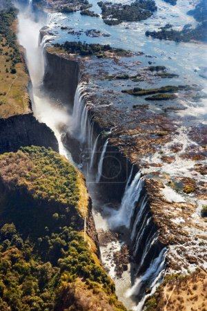 The Victoria falls is the largest curtain of water in the world.