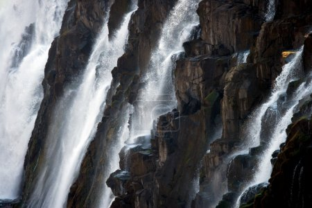 Detail of falling water Victoria Falls.