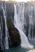 Detail padající vody Victoria Falls
