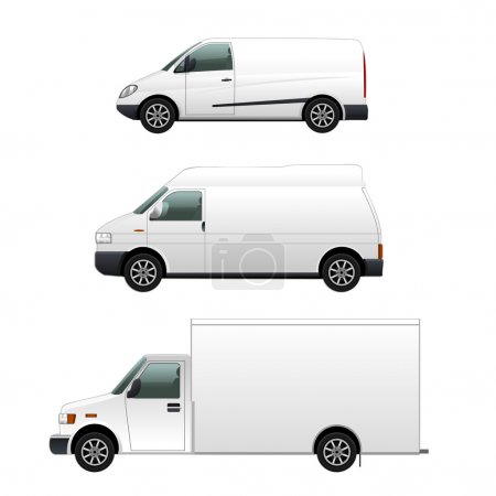 Illustration for Vector Delivery cars set - Royalty Free Image