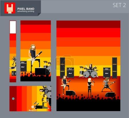 Pixel band adertising set 2...