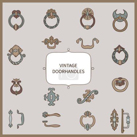 Vintage doorhandles set.