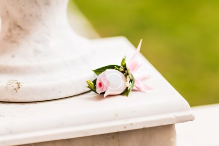 Beautiful wedding Boutonniere with rose,  mens Acc...