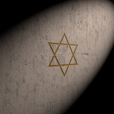 Star of David on the wall