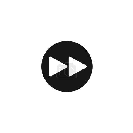 Rewinding icon. Vector illustration for graphic de...