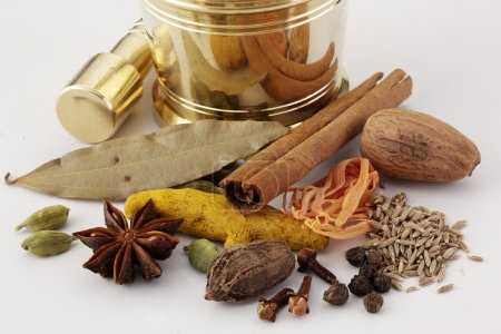 Various dried spices