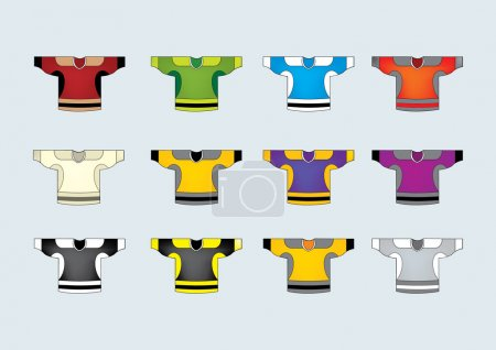 Ice hockey jerseys set of 12