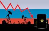 Orosz olaj ár csökkenése illusztráció