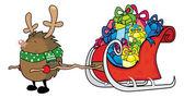 Rudolf červený nosem Ježek