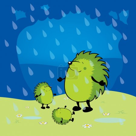 cute looking green hedgehogs