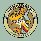 Surfaholic tiger shark