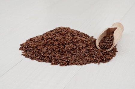 Flax seeds closeup
