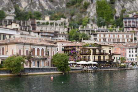 The town of Limone (cave) is located on Lake Garda - Italy