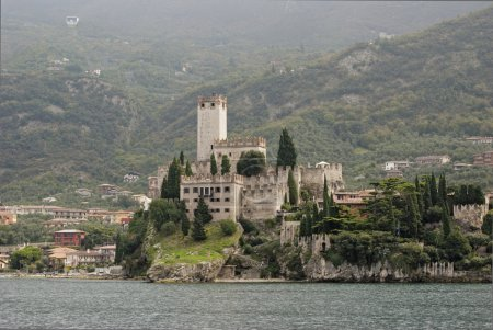 Ruins of the castle in Malcesine - Italy