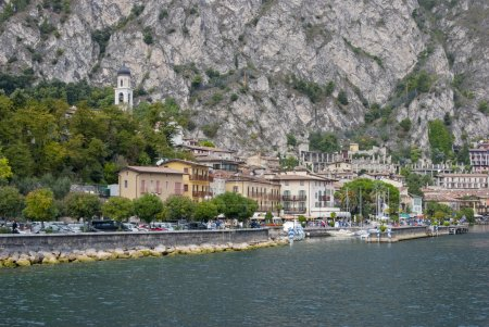 Town of Limone on Lake Garda