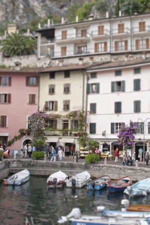 Town of Limone on Lake Garda