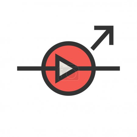 Light Emitting Diode icon vector image...