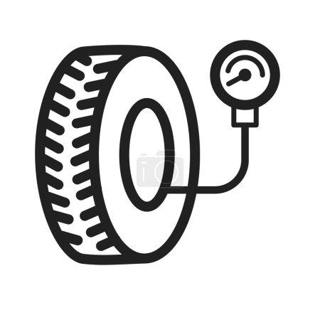 Tyre Air Pressure Checker icon vector image...