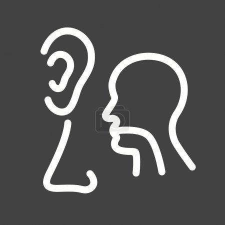 Illustration for Ear, nose, throat, ent, icon vector image. Can also be used for healthcare and medical. Suitable for web apps, mobile apps and print media - Royalty Free Image
