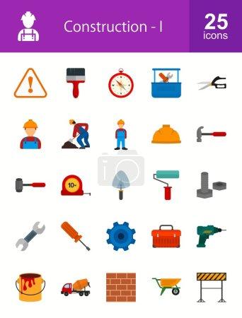 Construction, building icons set
