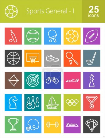 Sports and Fitness icons set