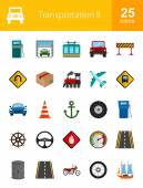 Transportation icon set Can also be used for shipment road traffic signs Suitable for web apps mobile apps and print media