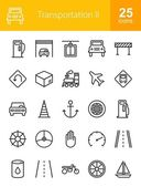 Transportation travel icons set