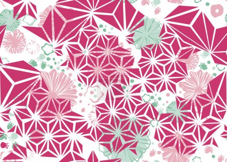 Illustration pour Lumineux motif de fleurs sauvages sans couture - image libre de droit