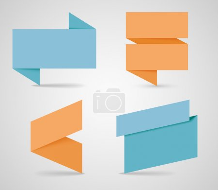 Illustration for Text Boxes Ribbons With Realistic Vector Shadows made in illustrator - Royalty Free Image