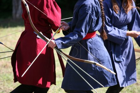 female archers on a medieval fighting