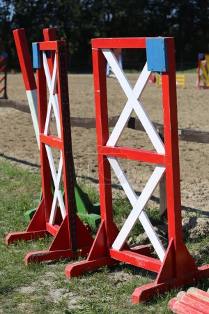 Equitation obstacles bars for horse jumping event