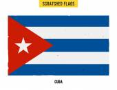 Cuban grunge flag with little scratches on surface A hand drawn scratched flag of Cuba with a grunge texture