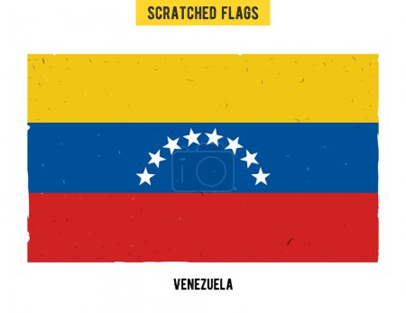 Venezuelan grunge flag with little scratches on surface. A hand drawn scratched flag of Venezuela with a grunge texture.