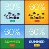Set of summer sale promotion posters Vector banners collection