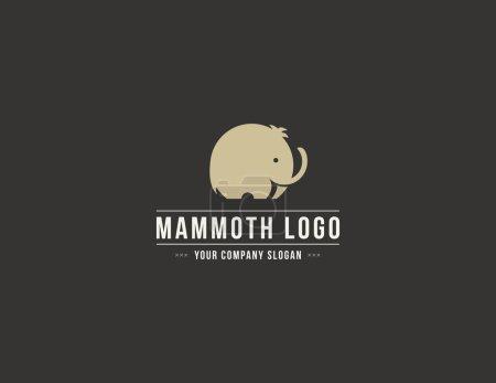 Mammoth silhouette vector logo. Elephant symbol.