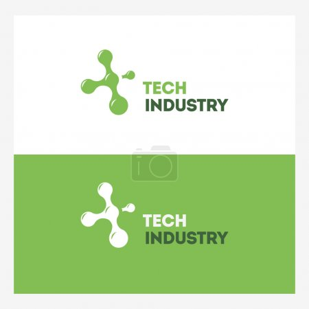 Abstract Technology vector logo design template.