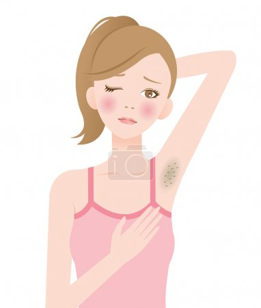 hair removal darkened armpits