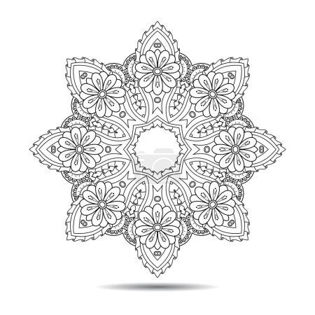 Oriental mandala element