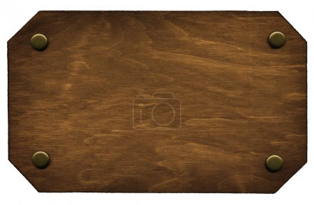Photo pour Plaque signalétique en bois - image libre de droit