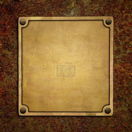 Photo pour Plaque signalétique en bronze - image libre de droit