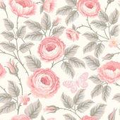 """Постер, картина, фотообои """"цветочный фон с розами пастельных цветов"""""""