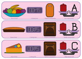 Colorful Kitchen icons for sweet food