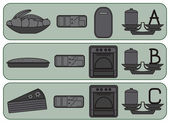 Kitchen icons for sweet food
