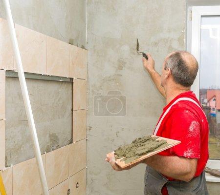 House renovation - tiles on wall