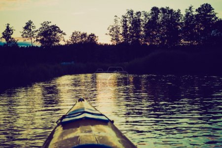 kayaking by Krutynia river in Poland