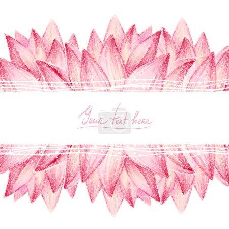 Illustration for Pink lotus flower design card,vector illustration - Royalty Free Image