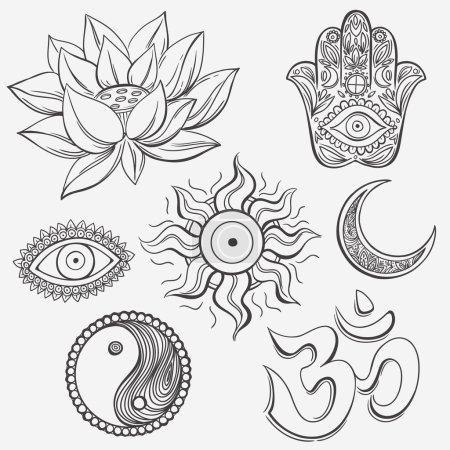 Spiritual doodle symbols