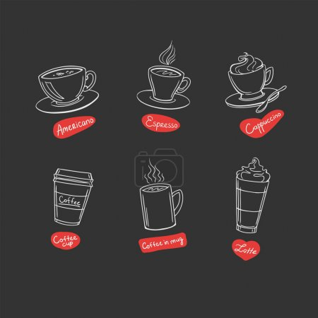 Stylized coffee icons